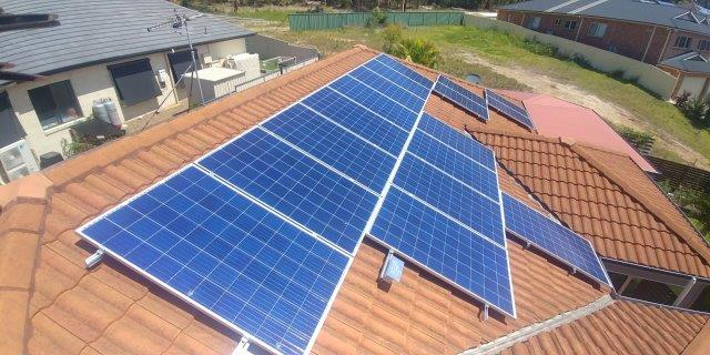 solar on orange tiled roof